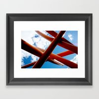 Sky Piping  Framed Art Print