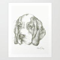 Blueberry the Beagle Art Print