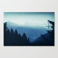 Blue Valmalenco - Alps at sunrise Canvas Print