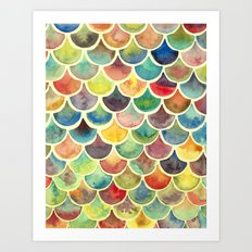 Colorful Scales Art Print