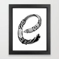 The E Framed Art Print