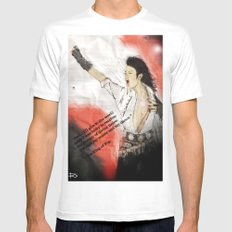 MJ Shamone!  Mens Fitted Tee White SMALL