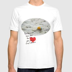Ladybird White SMALL Mens Fitted Tee