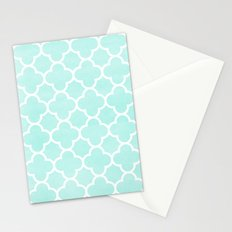 MOROCCAN {TEAL & WHITE 2} Stationery Cards