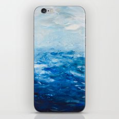 Paint 10 abstract water ocean seascape modern painting dorm room decor affordable stretched canvas iPhone & iPod Skin