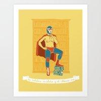 Lucha Library Art Print