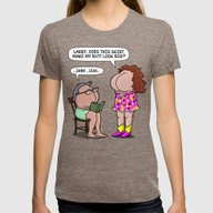 BIG BUTT SKIRT! Womens Fitted Tee Tri-Coffee SMALL