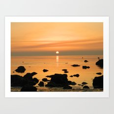 Sunset Ayrshire coast (Scotland) Art Print