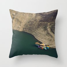 Colourful Boats Throw Pillow