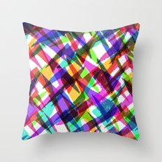 Mashed up chevron pattern. Throw Pillow