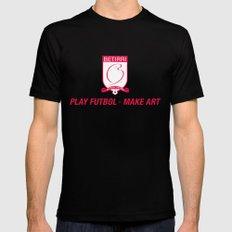Play Futbol, Make Art Mens Fitted Tee SMALL Black
