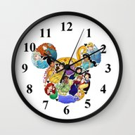 Wall Clock featuring Princess Mickey Ears by Katie Simpson A.k.a.…
