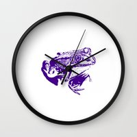 purple frog II Wall Clock