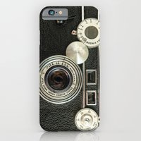 iPhone Cases featuring Vintage Range finder camera. by Wood-n-Images