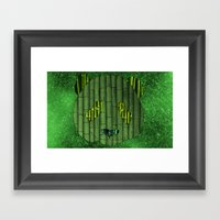 Panda & Bamboo Framed Art Print