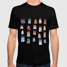 Little Houses Mens Fitted Tee Black SMALL