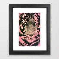 Be A Tiger (Pink) Framed Art Print