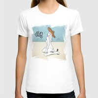 Sunday Womens Fitted Tee White SMALL