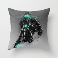 Omega Suit Throw Pillow
