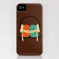 iPhone 4s & iPhone 4 Cases featuring Baby It's Cold Outside by Budi Kwan