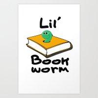 Lil' Bookworm Art Print