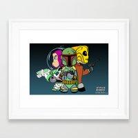 Jetpack Buddies Framed Art Print