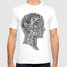 portrait of summer MEDIUM White Mens Fitted Tee