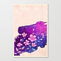 Canvas Print featuring FLOWERS IN VIOLET by Ylenia Pizzetti