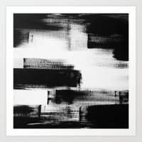 No. 85 Modern abstract black and white painting Art Print