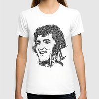 Elvis Presley Womens Fitted Tee White SMALL