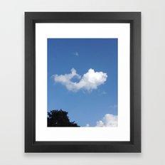 Whale Cloud Framed Art Print