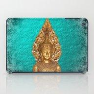 Golden Buddha In Blue Pa… iPad Case