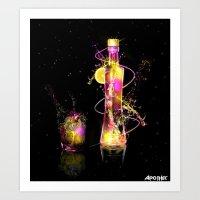 Vodka Illustration Art Print