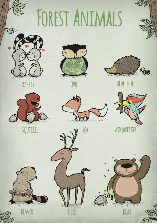 Forest Animals Art Print