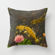 Kissing Koi Throw Pillow