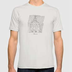 Bramante Mens Fitted Tee Silver SMALL