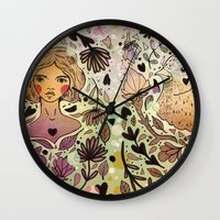 Bird Girl Wall Clock