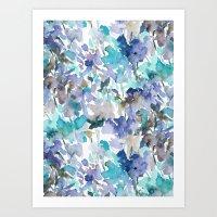 Local Color Blue Mint Art Print