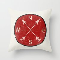 Compass Throw Pillow