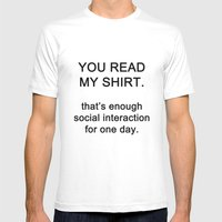 quotes Mens Fitted Tee White SMALL