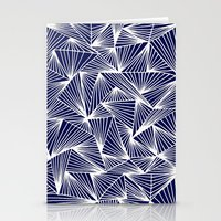 TriangleAngle (Navy) Stationery Cards