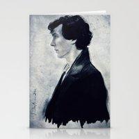 sherlock Stationery Cards featuring Sherlock by LindaMarieAnson