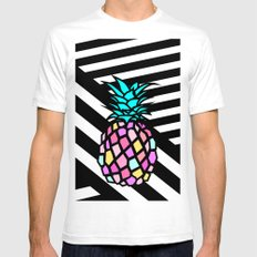pineapple SMALL White Mens Fitted Tee