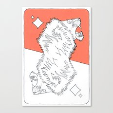 Lion Card Canvas Print
