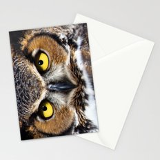 Great Horned Owl Face Stationery Cards