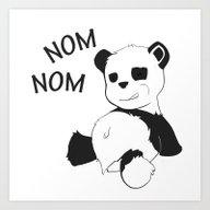 Art Print featuring Little Panda