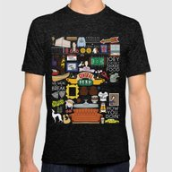 Collage Mens Fitted Tee Tri-Black SMALL