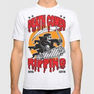 Death Comes Ripping Mens Fitted Tee Ash Grey SMALL