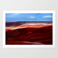 Artistic red Desert Art Print