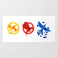 The H Games - Mockingjay Art Print